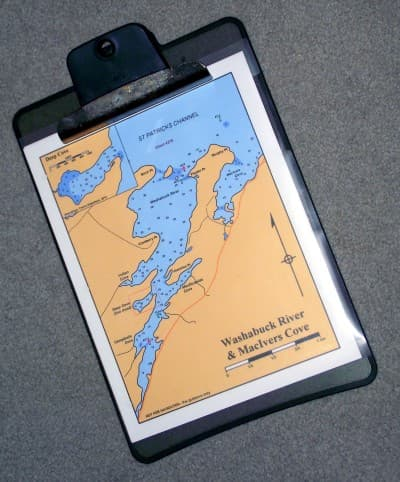 Clip-board with chart