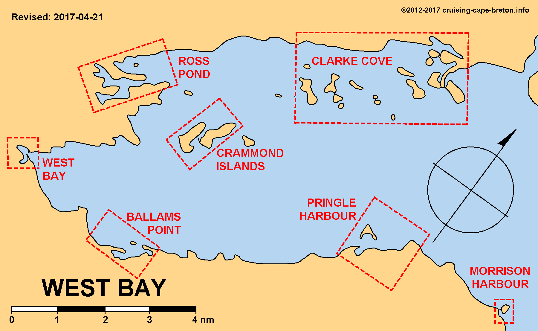 Key Chart to West Bay